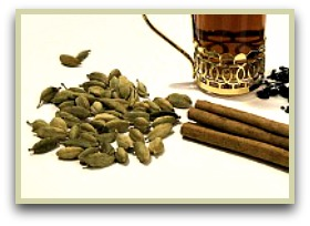 Picture of cardamom tea with orange