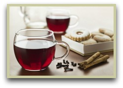 Picture of clove tea with cinnamon