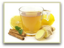 Picture of ginger tea with cinnamon and orange