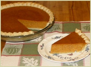 picture of homemade pumpkin pie