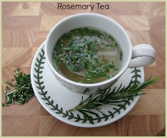 picture of rosemary tea made with fresh rosemary leaves
