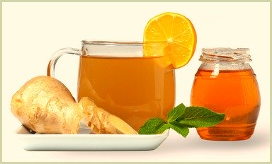 picture of ginger tea with orange